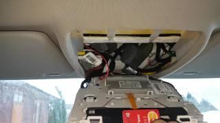 Снятие переднего потолочного светильника. mercedes glk w204. interior light removal(, 2017-02-11T13:37:56.000Z)