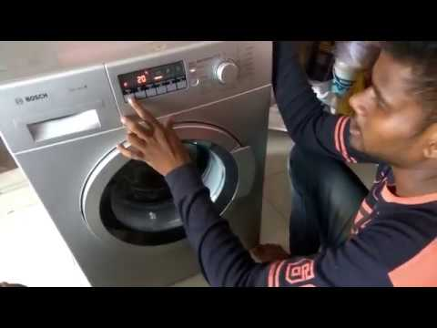 bosch front load washing machine demo (telugu)