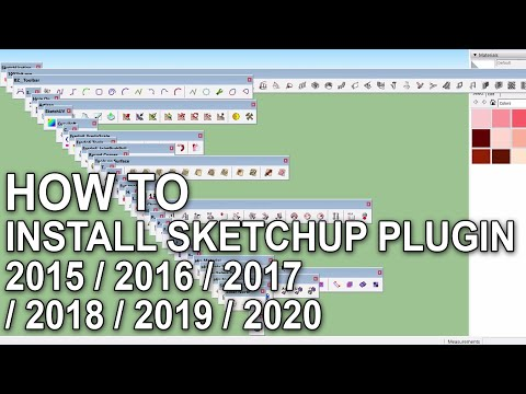 How to Install Sketchup Plugins 2015 / 2016 / 2017 / 2018