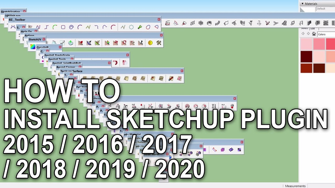 How to Install Sketchup Plugins 2015 / 2016 / 2017 / 2018 / 2019 Tutorial_  Folder Name by SU Version