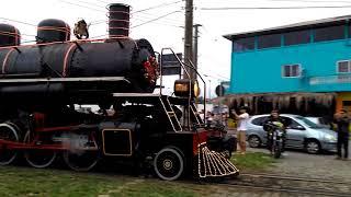 Trem Maria fumaça em Paranaguá