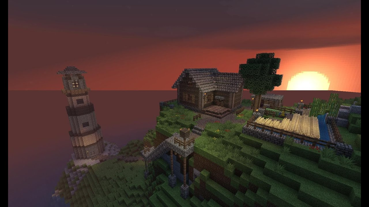Дом на берегу моря (Hot House Designs) » Minecraft ...
