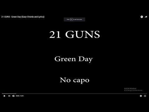 21 GUNS - Green Day (Easy Chords and Lyrics)
