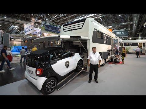 Wohnmobil Neuheiten 2022: PKW Garage unter 7,5t. Morelo Palace 88G 2022. Über 1 Tonne Zuladung! Wow!
