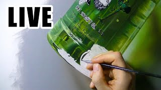 Painting Live - Green Bottle - 15th