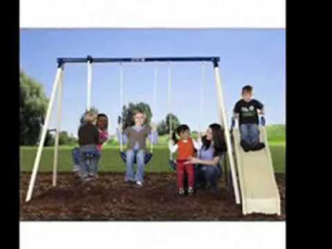 Kids Toys|Flexible Flyer Swing N Glide III Swing Set With Playswing For Kids