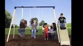 Kids Toys Flexible Flyer Swing N Glide III Swing Set with Playswing For Kids