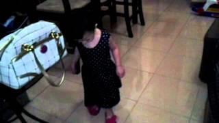 Baby wearing slippers CUTE