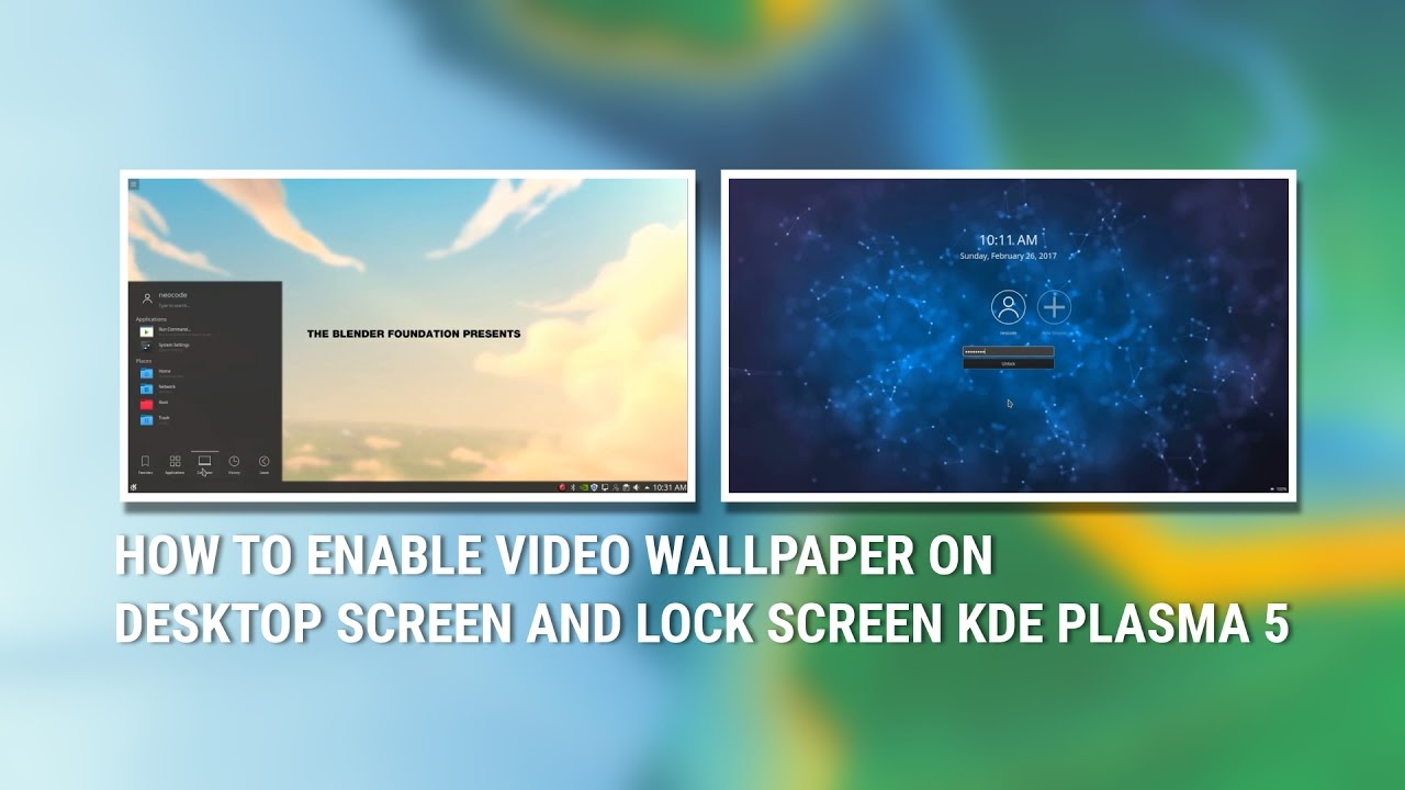 How To Enable Video Wallpaper On Desktop Screen And Lock Screen Kde Plasma 5 Youtube