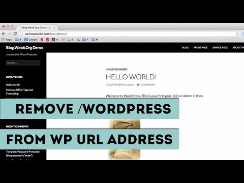 How To Remove /WordPress From URL of Your WP Site