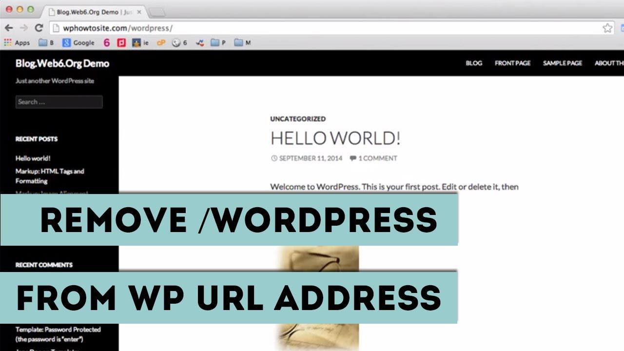 how to change url of wordpress site
