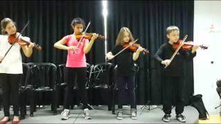 Открытый урок музыки в школе - скрипка