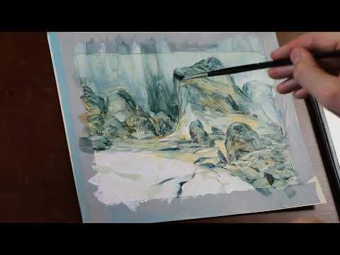 Imaginative Oil Painting Landscape Sketch
