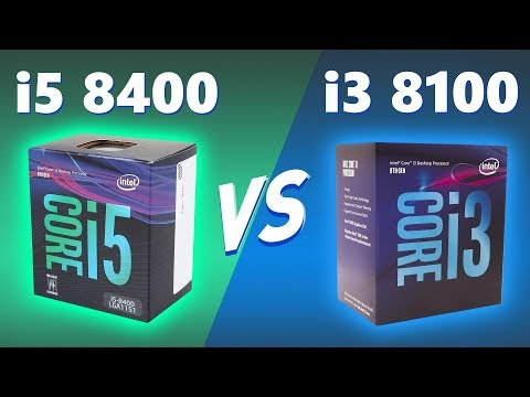 intel i3 8100 vs i5 8400 7 Games Mega Test & Benchmark