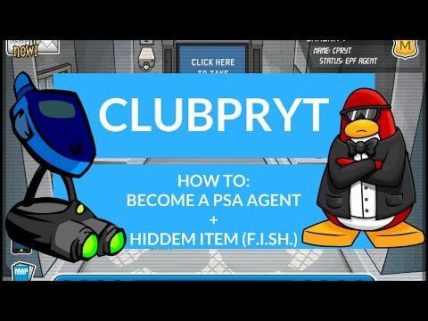 Club Penguin Rewritten: Become a PSA Agent+Hidden Item ClubPRYT