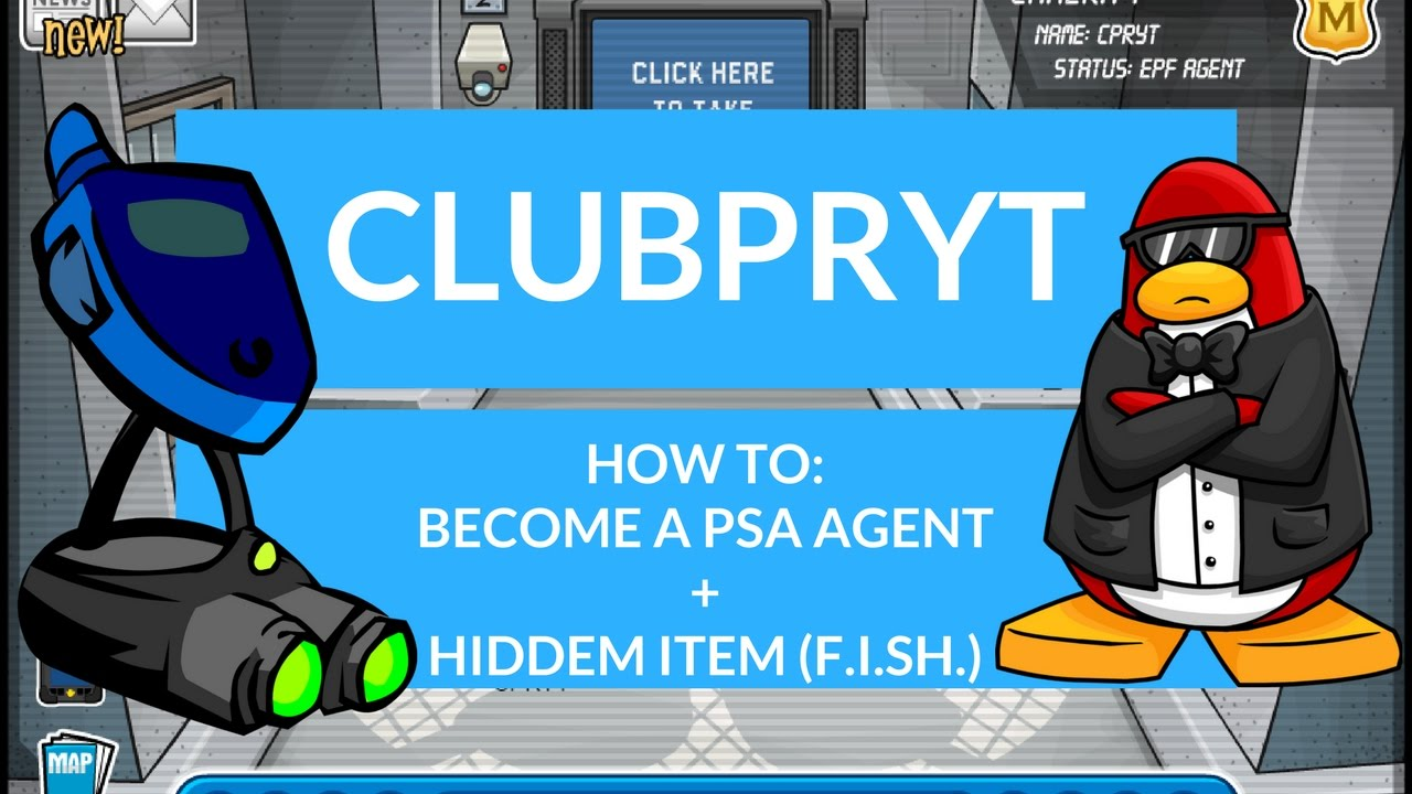 Club Penguin Rewritten Become A Psa Agenthidden Itemclubpryt