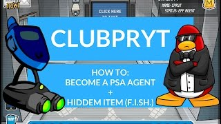 Club Penguin Rewritten: Become a PSA Agent+Hidden Item|ClubPRYT