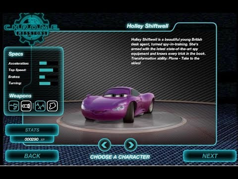 Cars 2 C H R O M E Missions / Disney Car Race Games / Online Gameplay