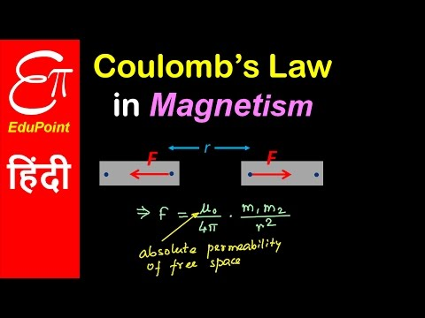 Coulomb's Law in Magnetism | video in HINDI | EduPoint