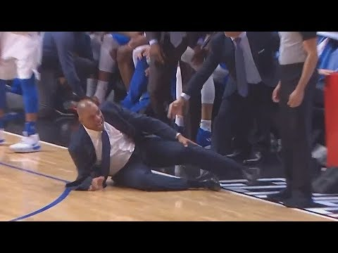 Doc Rivers FALLS After He Tries To Argue A Call With Refs! Mavericks vs Clippers