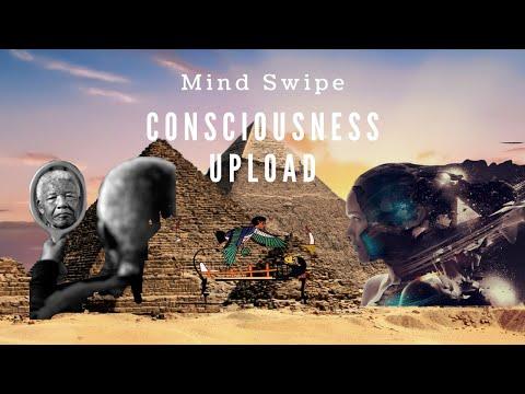 Mind Swipe. Dual Reality Effect. Consciousness Uploads