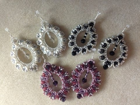 Tutorial Crystal Portrait Earrings Video 9