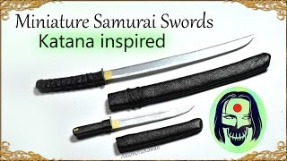 "Miniature Samurai Swords (""Katana"" Suicide Squad) Inspired Doll Tutorial"