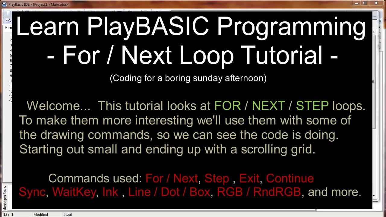 PlayBASIC com - Tutorials - Learn PlayBASIC Programming