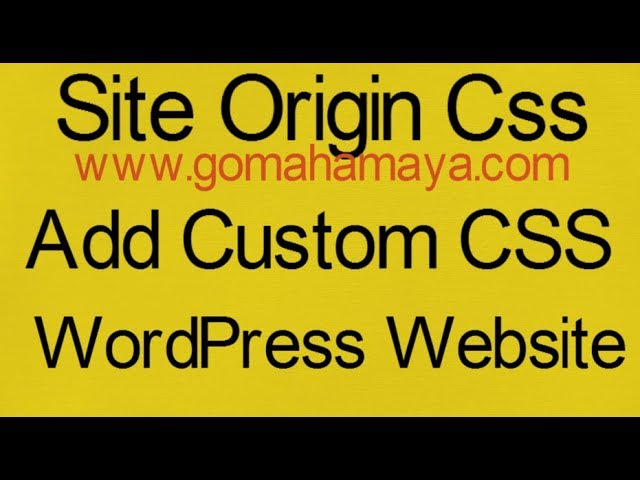 SiteOrigin CSS custom CSS plugin - Add Custom CSS to WordPress Website