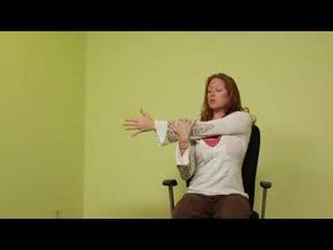 office chair yoga stretches  office chair yoga deltoid
