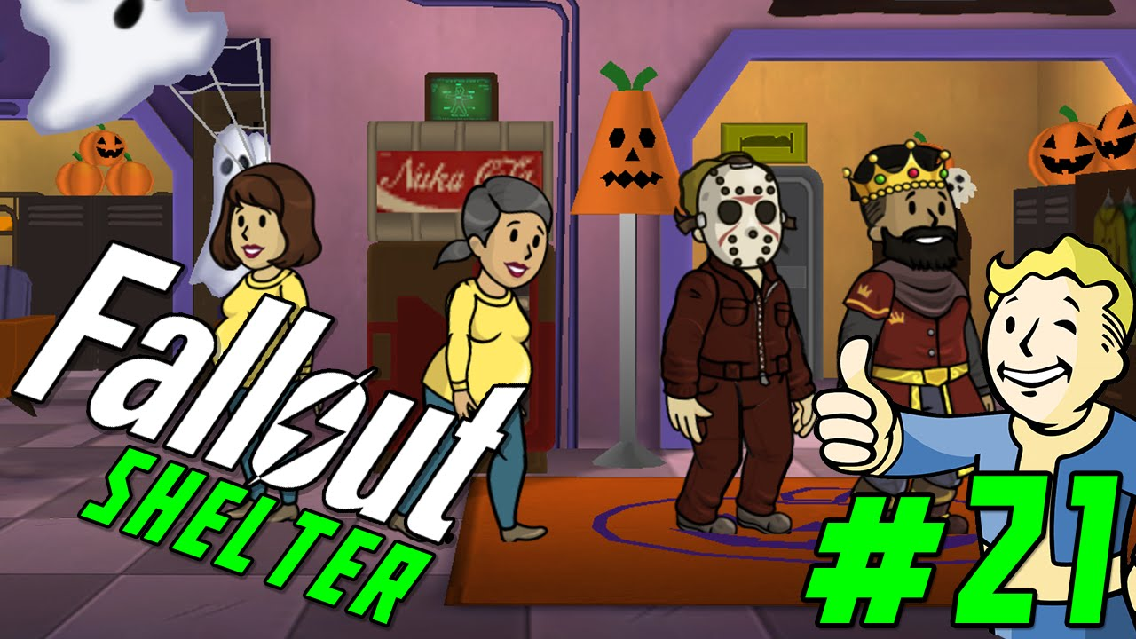 fallout shelter gameplay part 21 halloween update ios android gameplay youtube