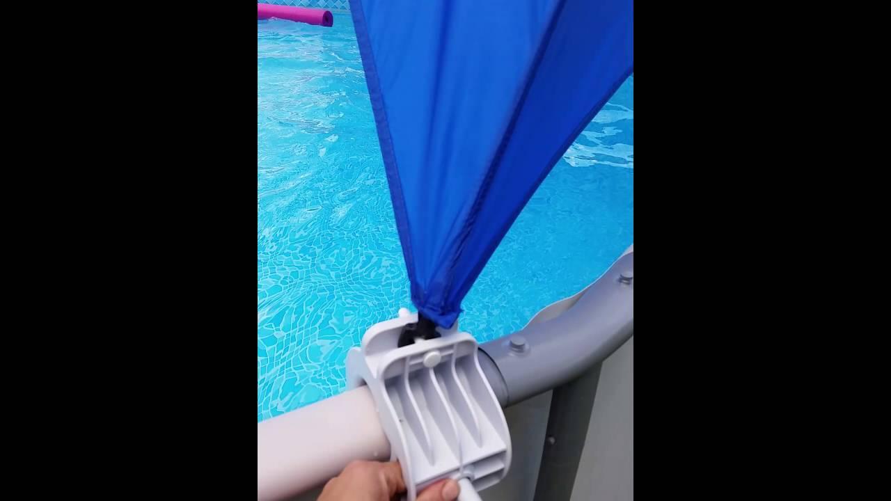 Intex pool canopy review & Intex pool canopy review - YouTube