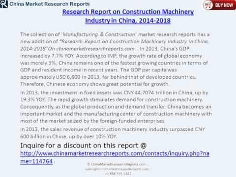 China Construction Machinery Industry Forecast To 2018