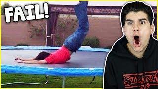 Epic Trampoline Fails!