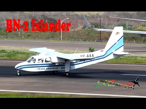 Trans Anguilla Airways BN-2 Islander in action @ St. Kitts (HD 1080p)