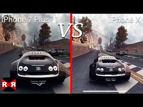 GRID Autosport - iPhone X VS iPhone 7 Plus Side by Side Graphic Comparison