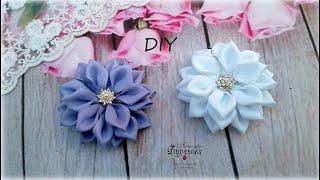🌺 Нарядные цветы-банты из лент 🌺 Резиночки для волос 🌺 Канзаши 🌺 DIY 🌺 Hand мade 🌺 Kanzashi 🌺