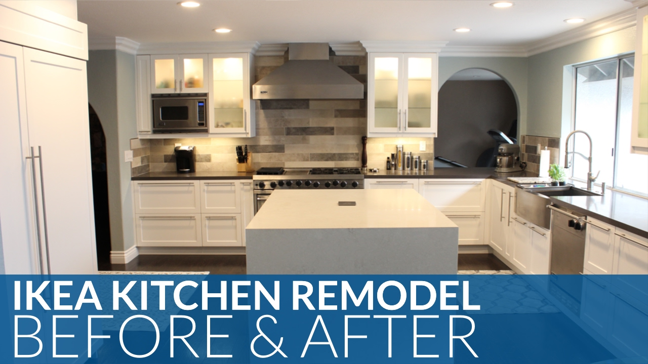 Ultimate ikea kitchen remodel before after youtube for Kitchen remodel before after