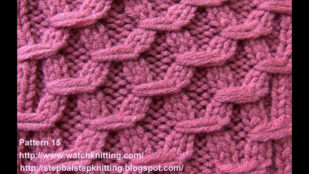 Free Patterns Knitting : (Hexagonal ) - Embossed Patterns - Free Knitting Patterns Tutorial - Watch Kn...