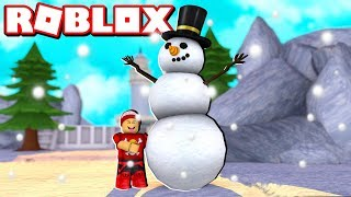 MAKING a GIANT SNOWMAN in ROBLOX ️ ☃ → Snowman Simulator 🎮