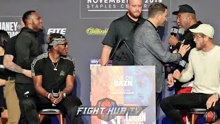 SHANNON BRIGGS BLOWS UP AFTER STEROIDS COMMENT AT KSI TEAM MEMBER AT KSI LOGAN PAUL PRESS CONFERENCE