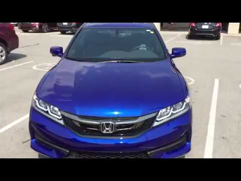 2017 Honda Accord Coupe Trim Exl Blue Walkaround