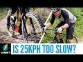 E-Bike Gravel Road Climbing Comparison | Is A 25Kph Limit Too Slow?