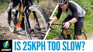 E-Bike Gravel Road Climbing Comparison | Is A 25Kph Limit Too Slow?