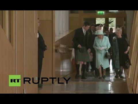 LIVE: Queen Elizabeth to visit Scottish Parliament