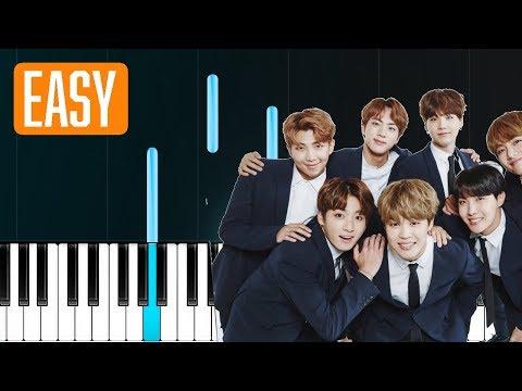 "BTS - ""Fake Love"" 100% EASY PIANO TUTORIAL"