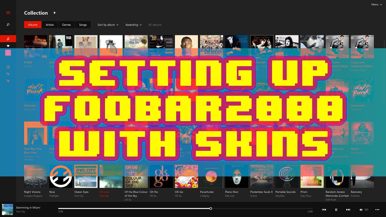 How to install Foobar2000 and set up skins