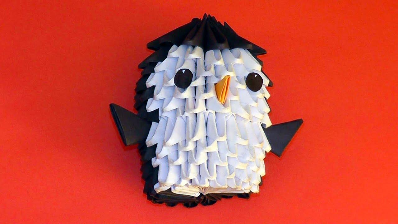 3d Origami Penguin Tutorial For Beginners Youtube