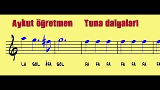 Tuna Dalgaları Tuna Valsi Valsin Notası Trompet Piyono Blok Flüt Gitar Keman Notası