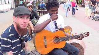 Бандерас отдыхает! Десперадо (Desperado) классно звучит в Бресте!!! Buskers! Street! Musik! Song!